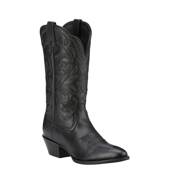 Ariat Women's Heritage Western Black Boots R-Toe - RR Western Wear, Ariat Women's Heritage Western Black Boots R-Toe