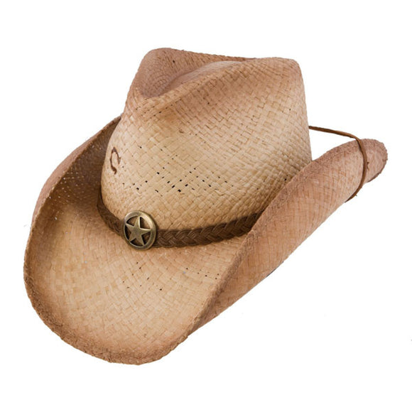 Charlie 1 Horse Lone Ranger - Shapeable Straw Cowboy Hat - RR Western Wear, Charlie 1 Horse Lone Ranger - Shapeable Straw Cowboy Hat