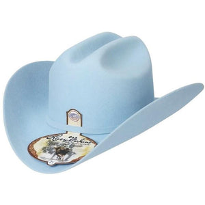 6x Larry Mahan Real Fur Felt Cowboy Hat Baby Blue - RR Western Wear, 6x Larry Mahan Real Fur Felt Cowboy Hat Baby Blue