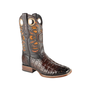 Men's Wild West Caiman Tail Boots Handcrafted - 28240116