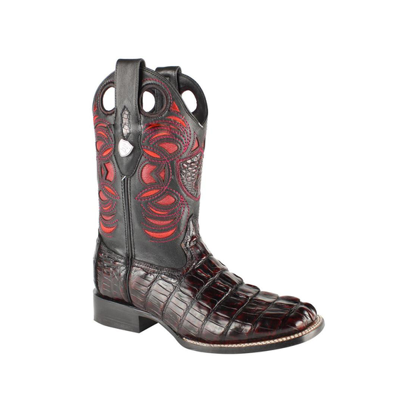 Men's Wild West Caiman Tail Boots Handcrafted - 28240118