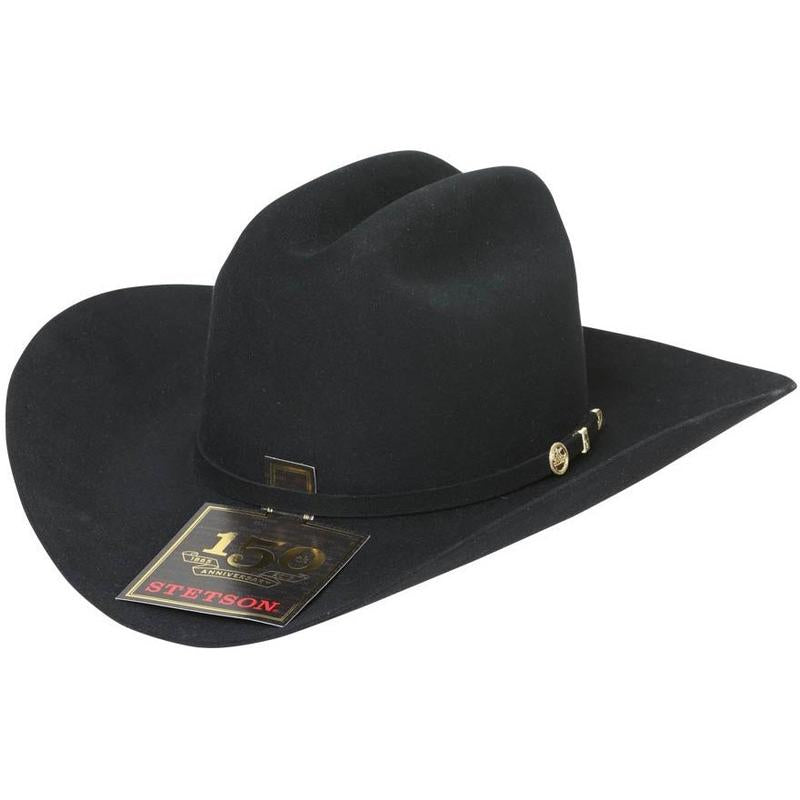 100x El Presidente Stetson Hat - Black – RR Western Wear a9189be0717