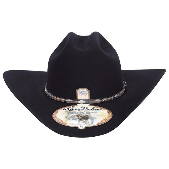 5x Larry Mahan Brindle Fur Felt Cowboy Hat Black - RR Western Wear, 5x Larry Mahan Brindle Fur Felt Cowboy Hat Black