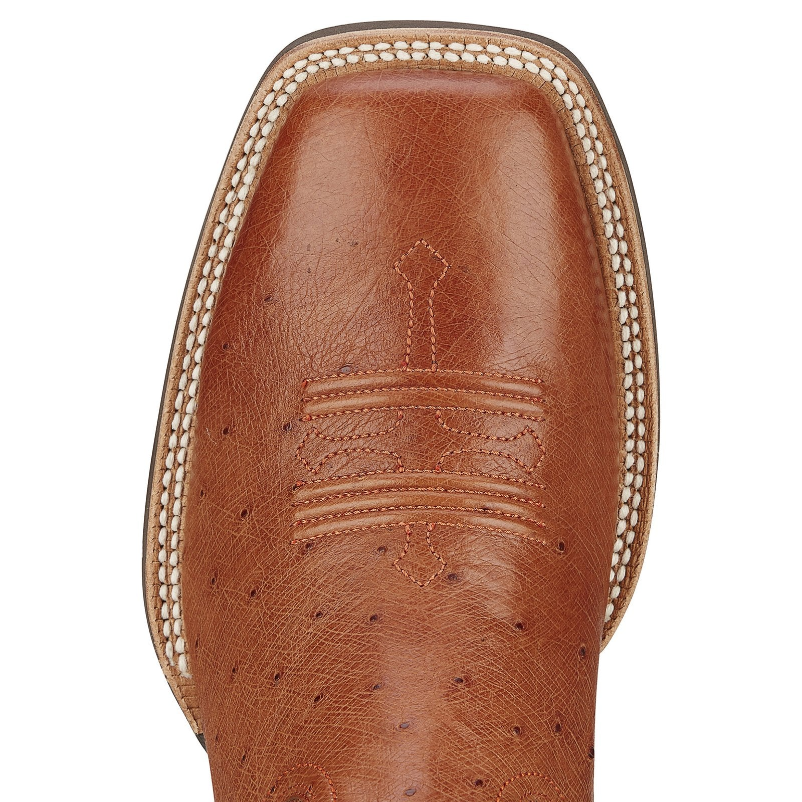 36be584f52 ... Ariat Men s Tombstone Brandy Smooth Ostrich Quill Boots - RR Western  Wear