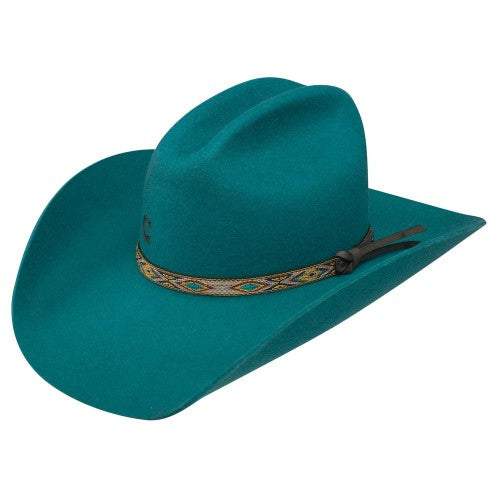 Charlie 1 Horse Teal With It – Wool Cowgirl Hat - RR Western Wear, Charlie 1 Horse Teal With It – Wool Cowgirl Hat