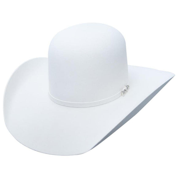 Cuernos Chuecos 6X Open Crown White Felt Hat