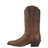Ariat Women's Heritage Western R Toe Brown Distressed - RR Western Wear, Ariat Women's Heritage Western R Toe Brown Distressed