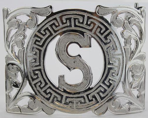 Charro Buckle With Letter S - RR Western Wear, Charro Buckle With Letter S