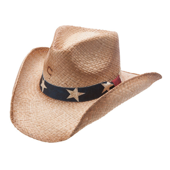 Charlie 1 Horse Stars and Stripes - Shapeable Straw Cowboy Hat - RR Western Wear, Charlie 1 Horse Stars and Stripes - Shapeable Straw Cowboy Hat