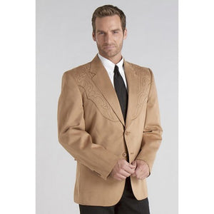 Circle S Men's Apparel - Galveston Sport Coat w/ Boot-Stitch Yokes - Camel - RR Western Wear, Circle S Men's Apparel - Galveston Sport Coat w/ Boot-Stitch Yokes - Camel