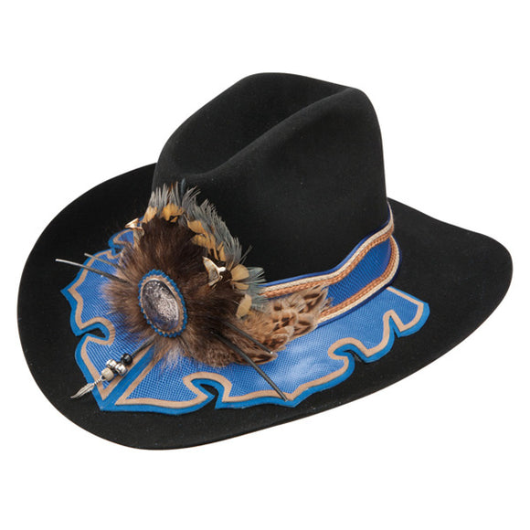Charlie 1 Horse Richard Petty Petty Blue - (10X) Fur Cowboy Hat - RR Western Wear, Charlie 1 Horse Richard Petty Petty Blue - (10X) Fur Cowboy Hat