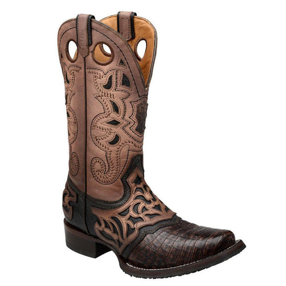 Cuadra Men's Caiman Belly Pro Rodeo Square Toe Boots - RR Western Wear, Cuadra Men's Caiman Belly Pro Rodeo Square Toe Boots