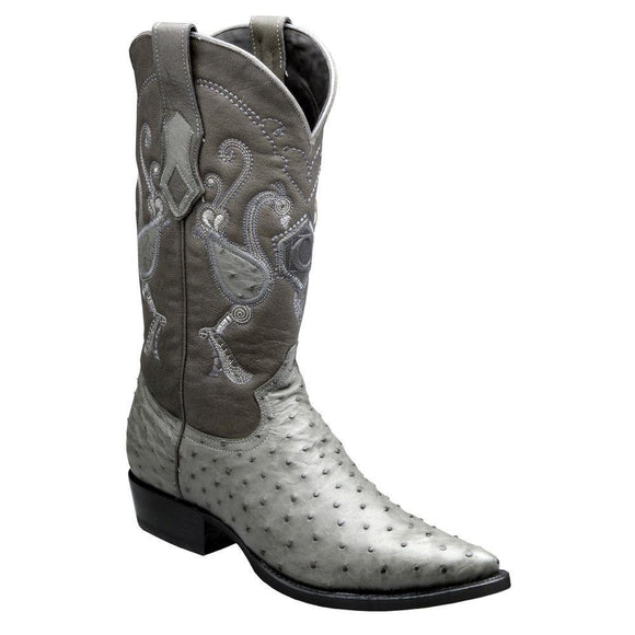 Cuadra Men's Traditional Ostrich Western Boots - Grey - RR Western Wear, Cuadra Men's Traditional Ostrich Western Boots - Grey
