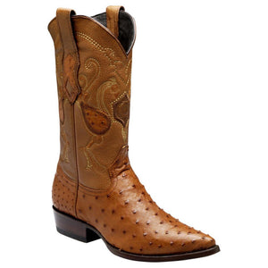 Cuadra Men's Traditional Ostrich Western Boots - Brandy - RR Western Wear, Cuadra Men's Traditional Ostrich Western Boots - Brandy