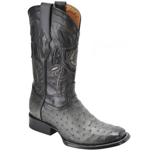 Cuadra Men's Flame Grey Ostrich Cowboy Boots - Square Toe - RR Western Wear, Cuadra Men's Flame Grey Ostrich Cowboy Boots - Square Toe