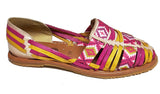 Womens Leather Sandals Huarache Color Tan Pink