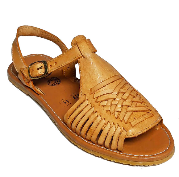 Womens Leather Sandals Huarache Color Tan