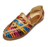 Womens Leather Sandals Huarache Color Tan Multi Color