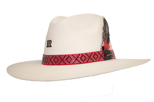 "RRango Womens ""Bella"" Pinch Crown Wool Cowgirl Hat - Bone"
