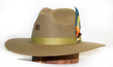 "RRango Womens ""Bella"" Pinch Crown Wool Cowgirl Hat - Forest"