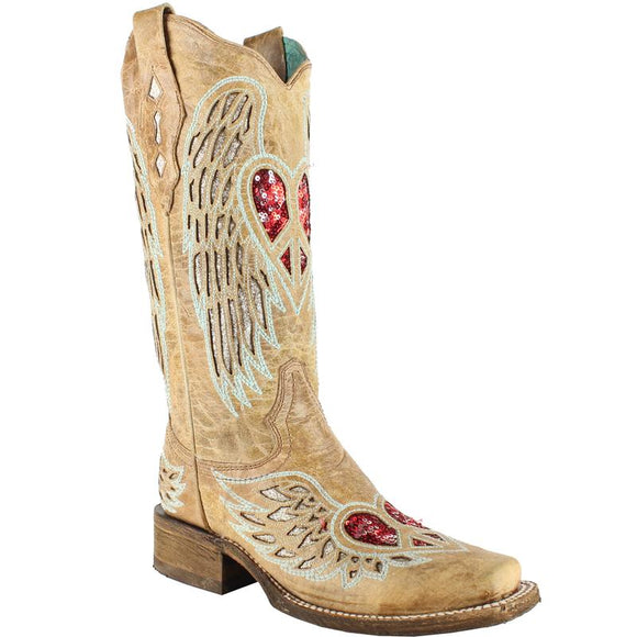 Women's Corral Glow In The Dark Boots Handcrafted - A3756