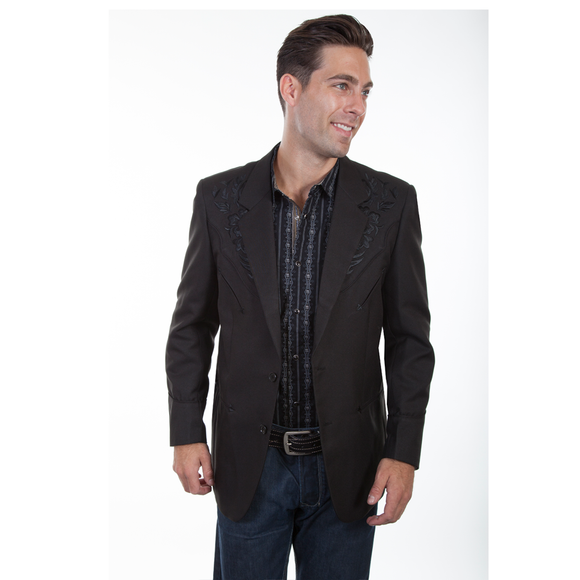 Scully - Blazer with Floral tonal embroidery - P-733