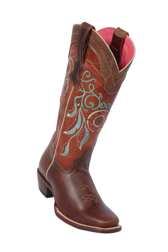 Quincy-Boots-Womens-Grasso-and-Crazy-Leather-Dream-Catcher-Chedron-Rodeo-Toe-Western-Boot