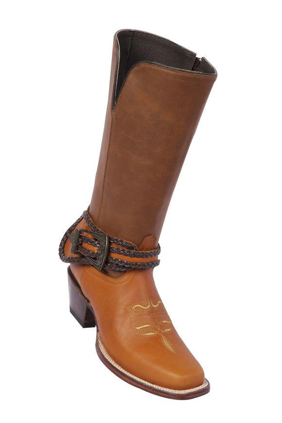 Quincy-Boots-Womens-Grasso-and-Crazy-Leather-Rope-Belt-Tan-Rodeo-Toe-Western-Boot