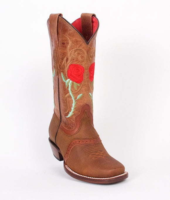 Quincy-Boots-Womens-Crazy-Leather-Rose-Honey-Rodeo-Toe-Western-Boot