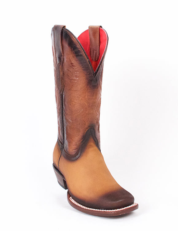 Quincy-Boots-Womens-Crazy-and-Grasso-Leather-Honey/Faded-Rodeo-Toe-Western-Boot