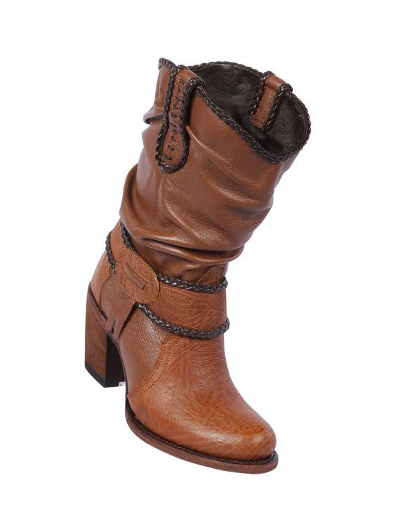 Quincy-Boots-Womens-Fashion-Floater-Leather-Short-Honey-Round-Toe-Western-Boot