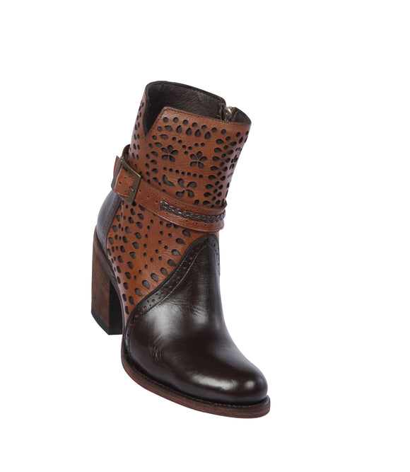 Quincy-Boots-Womens-Fashion-Floater-Leather-with-Print-Chocolate/Cognac-Round-Toe-Western-Boot