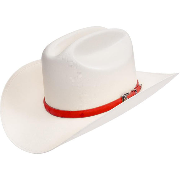 RRango Hats 10000x Sombrero Sinaloa Style Hat Red Ostrish Band