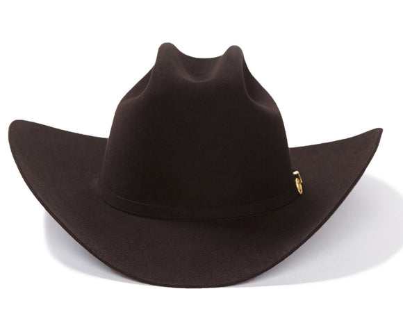 100x El Presidente Stetson Hat - Chocolate/Cafe