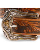 Unisex Tony Lama Western Rider Tooled Leather Belt