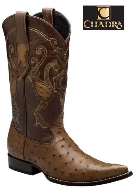 Men's CUADRA Boots Ostrich Honey Chihuahua Y341A1