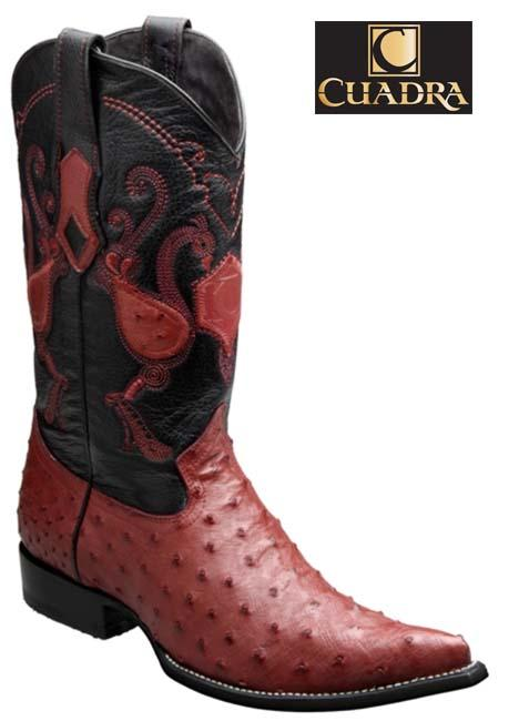 Men's CUADRA Boots Ostrich Red Chihuahua - Y341A1
