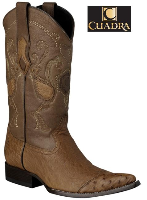 Men's CUADRA Boots Smooth Ostrich Honey Chihuahua - Y3AV3P