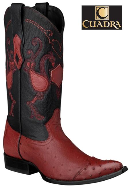 Men's CUADRA Boots Smooth Ostrich Red Chihuahua - Y3AV3P