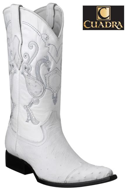 Men's CUADRA Boots Smooth Ostrich White Chihuahua - Y3AV3P