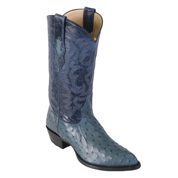 Ostrich-J-toe-cowboy-boot-Los-altos-blue