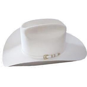 1000X Stetson Diamante Hat Made With Premium Chinchilla/Beaver - White - RR Western Wear, 1000X Stetson Diamante Hat Made With Premium Chinchilla/Beaver - White