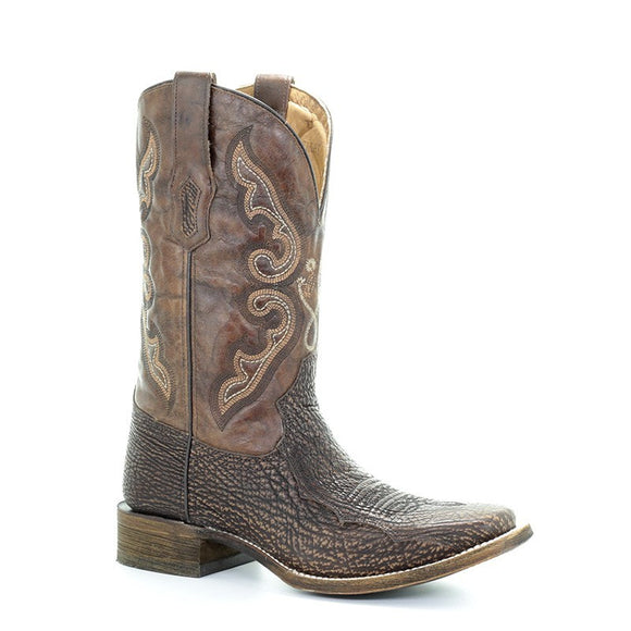 Men's Corral Brown Shark Sq.Toe. - Tyson Selection Western Boots Hammer