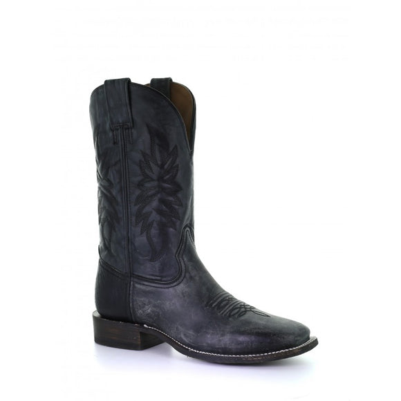 Men's Corral Black Wide Sq. Toe Rodeo Collection Western Boots A3822