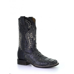 Men's Corral Black Fuscus Patch Work Wide Sq. Toe Rodeo Collection Western Boots A3824