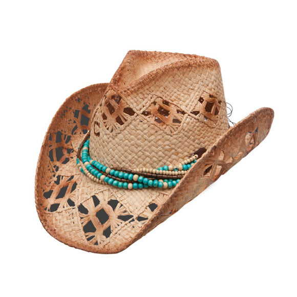 Charlie 1 Horse High Strung - Womens Shapeable Straw Cowboy Hat - RR Western Wear, Charlie 1 Horse High Strung - Womens Shapeable Straw Cowboy Hat