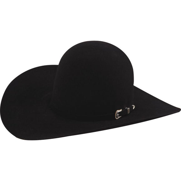 American Hat Co 10X Black Open Crown Felt Cowboy Hat - RR Western Wear, American Hat Co 10X Black Open Crown Felt Cowboy Hat
