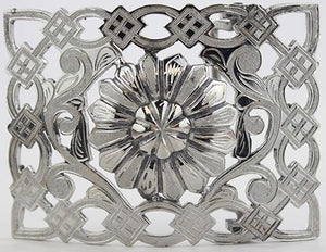 Charro Flower Design Buckle - RR Western Wear, Charro Flower Design Buckle