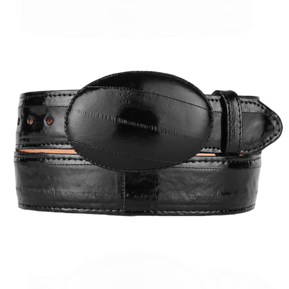 Black Eel Cowboy Belt - RR Western Wear, Black Eel Cowboy Belt