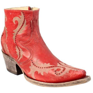 Women's Corral Ankle Boots Handcrafted - G1379